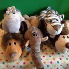 【發現。好貨】叢林動物系列大象猴子老虎獅子河馬卡通毛絨面紙套 創意車用面紙套