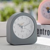鬧鐘 簡約鬧鐘表學生用靜音床頭鬧鈴極簡女北歐風電子鐘夜燈光書桌創意 至簡元素