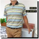 【大盤大】(P05799) 夏 短袖 條紋 格紋POLO衫 男 口袋保羅衫 反領棉衫 體面 出國【2XL號斷貨】