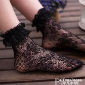 襪子韓國jk襪日系復古襪蕾絲鏤空洛麗塔甜美花邊堆堆襪女軟妹短襪子 非凡小鋪