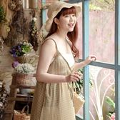 Poly Lulu 春日小格子外搭式雪紡背心洋裝-黃【92310153】