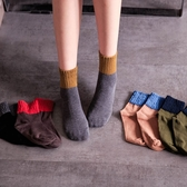 MIUSTAR 秋冬配色皺皺針織棉襪(共5色)【NH0608GW】預購