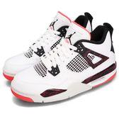 Nike Air Jordan 4 Retro GS Hot Lava 白 黑 紅 熱熔岩 喬丹 四代 女鞋 大童鞋【PUMP306】 408452-116