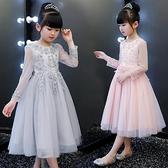 女童公主裙兒童裝主持人花童婚紗裙子禮服鋼琴演出服蓬蓬長裙走秀   新品全館85折