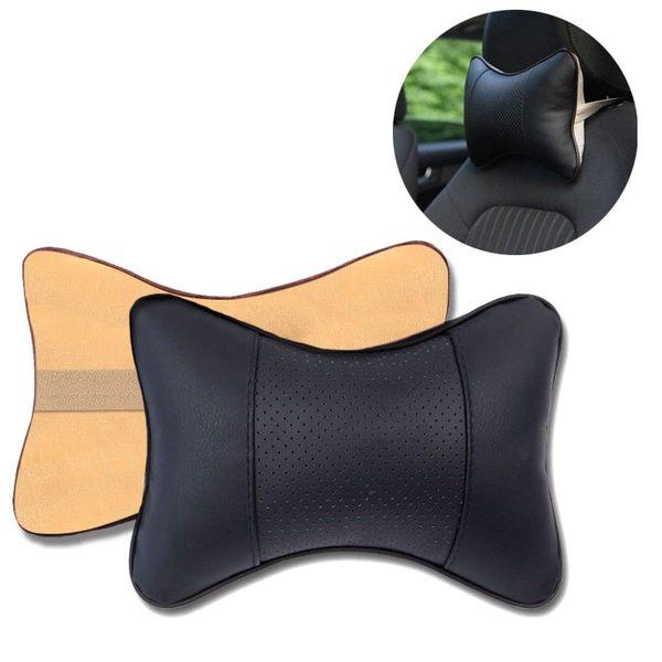車用頭枕 四季通用PVC皮 頸枕 車載骨頭枕 汽車頭枕