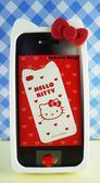 【震撼精品百貨】Hello Kitty 凱蒂貓~HELLO KITTY iPhone4矽膠手機殼-白愛心