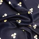 RB 義大利進口三葉草印花彈力真絲緞面料春夏新款時裝布料布匹惠 【快速出貨】