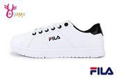 FILA 成人男款 簡約俐落 復古低筒 穿搭 運動鞋 休閒鞋 D9911#白黑◆OSOME奧森鞋業