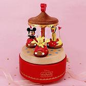 迪士尼系列金飾-碰碰車音樂盒-黃金米妮款