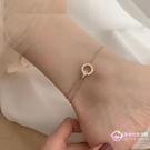 腳鏈 日韓版歐美冷淡風簡約氣質款兩個圓形...