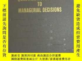 二手書博民逛書店THE罕見QUANTITATIVE APPROACH TO MANAGERIAL DECISIONS(管理決策的量