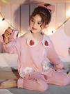 兒童睡衣女童春秋純棉長袖薄款中大童13歲女孩公主夏季套裝家居服 牛年新年全館免運