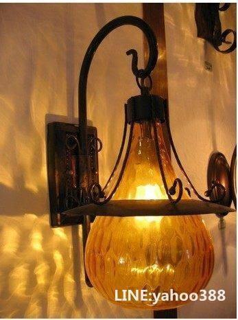 歐式鐵藝壁燈 單頭 門廳過道臥室燈具