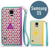 SAMSUNG 三星 S5 積木皮套 帶手鍊 插卡 支架 側翻皮套 手機套 手機殼 保護套 殼 配件
