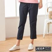 【JEEP】女裝 舒適修身素面長褲 (深藍)