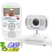 [8美國直購] 嬰兒監視器 CasaCam BM100 Video Baby Monitor with 2.3吋 LCD Monitor and Digital