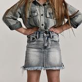 ONETEASPOON H/W 2020 MINI SKIRT 牛仔裙-童裝(灰)