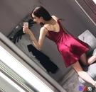 貝貝居 夏季時尚氣質顯瘦禮服性感夜店女裝露背吊帶抹胸連身裙
