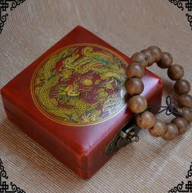 仿復古手串盒子木質手鐲盒佛珠手串首飾盒珠寶首飾手串佛珠展示盒