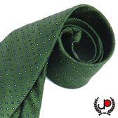 極品西服 摩登設計綠底絲質領帶 (YT0008)