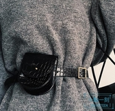 腰包 腰包女2019新款時尚個性時髦網紅pu皮ins手機運動跑步多功能
