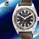 CITIZEN日本星辰Eco-Drive都會時尚光動能都會腕錶-皮帶/咖啡/40mm AW1051-09W公司貨/專業手錶/禮物/情人節