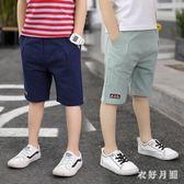 男童中褲2019夏裝新款韓版休閒外穿薄款五分褲男 QW3220【衣好月圓】