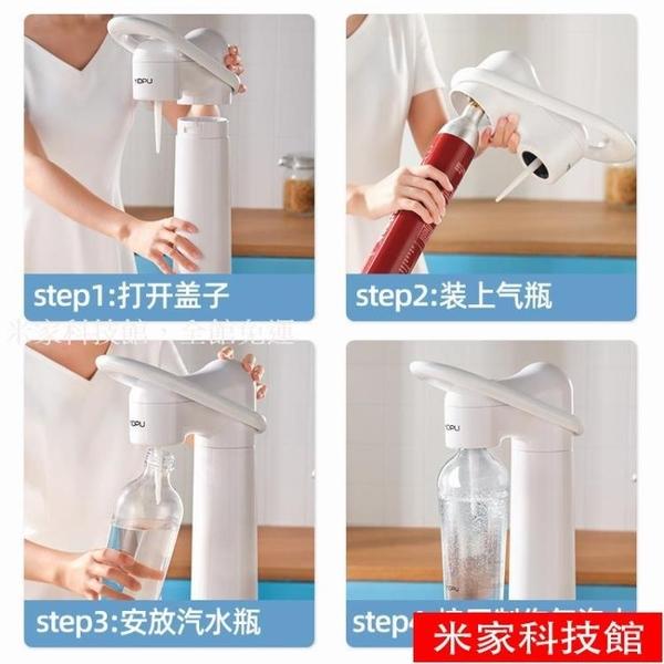 氣泡水機家用自制無糖汽水碳酸飲料可樂打氣制作器蘇打水