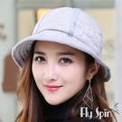保暖帽子-仿麂皮加絨高頂淑女漁夫冬盆帽15AW-S005 FLY SPIN