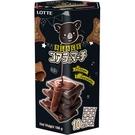 樂天小熊餅家庭號-濃黑巧克力195【愛買】