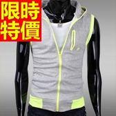 運動背心 (單件)個性別緻-有氧個性無袖休閒男裝外套3色59aa33【時尚巴黎】