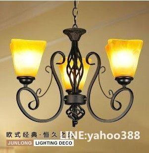 吊燈 客廳臥室餐廳 鐵藝3頭 歐式