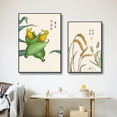 單幅 客廳裝飾畫中國風壁畫沙發背景墻簡約餐廳掛畫【輕奢時代】