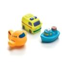 Playgro 軟膠洗澡組-交通工具