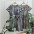 洋裝  樂夏日系格紋棉麻洋裝  二色-小...