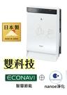 純正日本製Panasonic15坪空氣清淨機 F-VXP70W ◎ECONAV+ nanoe淨化科技
