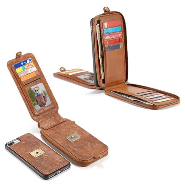 IPhone7 4.7 Plus 5.5吋 宋系 磁力商務皮套 錢包 多功能 皮套 多卡夾 皮革 收納皮套