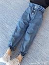 女童牛仔褲童裝女童牛仔褲春裝2020年新款兒童大童洋氣寬鬆時髦韓版春秋褲子
