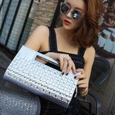 2018新款手拿包時尚帶鉆鑲鉆大容量韓版手提包