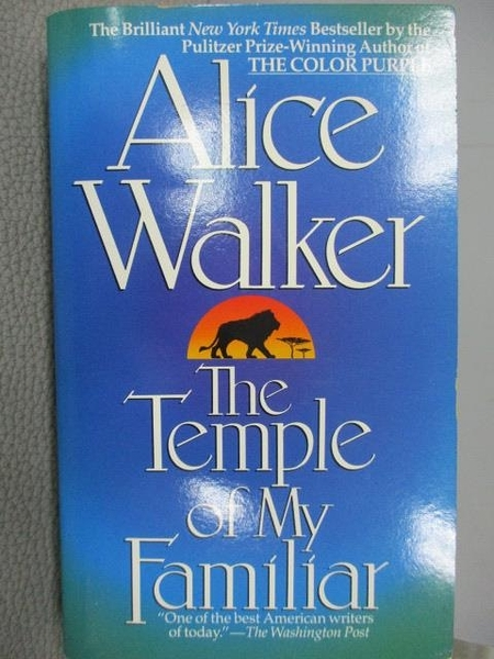 【書寶二手書T7/原文小說_CRF】The Temple of my Familiar_Alice Walker