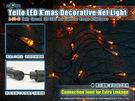 聖誕裝飾燈 120燈LED網燈/黃光 無跳機帶尾插 A-35-10