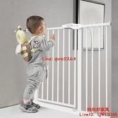 樓梯護欄兒童安全門欄寶寶圍欄柵欄門擋板防護欄寵物狗欄桿隔離門【時尚好家風】