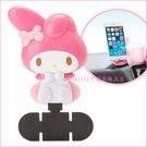 asdfkitty可愛家☆美樂蒂粉蝴蝶車用手機架/止滑手機座-日本正版商品