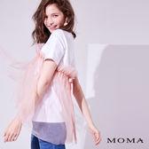 【網路獨賣】MOMA網紗蝴蝶結T_2色