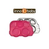 美國 Innobaby 不銹鋼兒童餐具 巴士餐盤 Din Din SMART™(粉色)[衛立兒生活館]