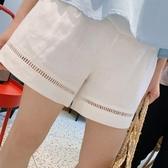 孕婦棉麻短褲女夏裝寬鬆外穿闊腿褲子2019夏季薄款大碼托腹打底褲 聖誕交換禮物