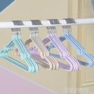 30個加粗衣架子浸塑料成人防滑晾掛衣架家用無痕衣撐衣服架