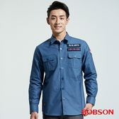 BOBSON 男款軍風貼標襯衫   (36005-50)