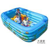 充氣泳池 超大號加厚兒童充氣游泳池家用成人家庭兒童游泳桶寶寶大人戲水池