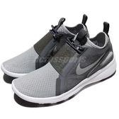 【海外限定】Nike 休閒鞋 Current Slip On 灰 銀 白底 襪套式 運動鞋 男鞋【PUMP306】 874160-001